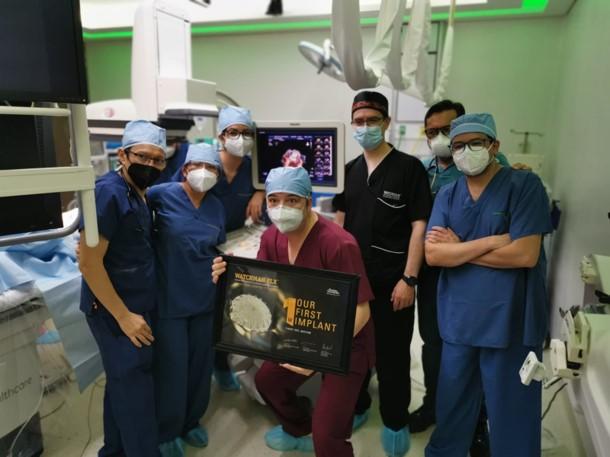 Equipo de cirugía de corazón